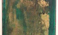 1996 (D) Ikon Ethra II (Octet), pigment, paint on canvas, 55x65 cm, 1996 (€ 3.500,-)