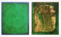 1996 (D) Ikon Ethra I en II - Diptych (Octet), pigment, paint on canvas, 2x 55x65 cm, 1996 ( € 6.500,-)